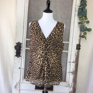 4/$25 Ann Taylor Factory Leopard Sleeveless Top